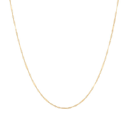 "40cm (16"") Singapore Chain in 10kt Yellow Gold"