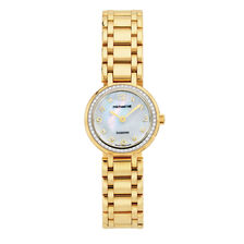 Ladies Watch with 1/4 Carat TW of Diamonds & Mother of Pearl in Gold Tone Stainless Steel