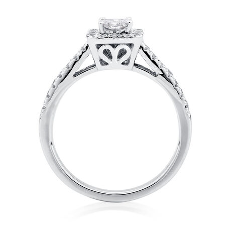 Engagement Ring with 7/8 Carat TW of Diamonds in 14kt White Gold