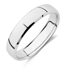 wedding band in 10kt white gold - Wedding Ring For Men