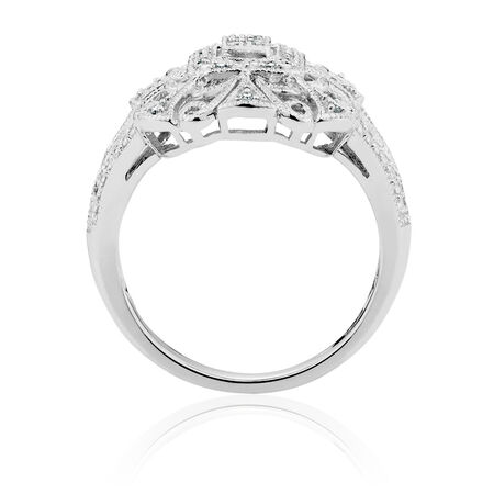 Ring with 1/10 Carat TW of Diamonds in Sterling Silver