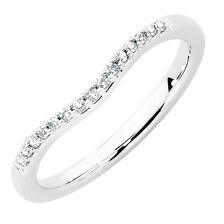 Wedding Band with 1/10 Carat TW of Diamonds in 18kt White Gold