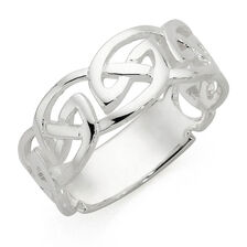 Men's Celtic Ring in Sterling Silver