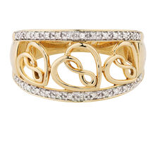 Infinitas Ring with 1/10 Carat TW of Diamonds in 10kt Yellow Gold
