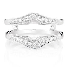 enhancer ring with 14 carat tw of diamonds in 14kt white gold - Wedding Ring Jackets