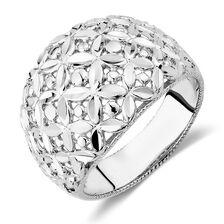 Flower Ring in Sterling Silver