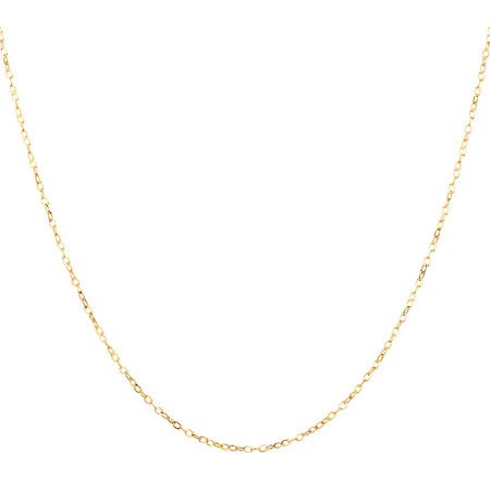 """45cm (18"""") Cable Chain in 10kt Yellow Gold"""