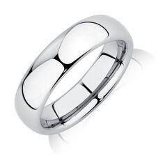 Men's Ring in Gray Tungsten