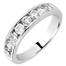 Wedding Band with 3/4 TW of Diamonds in 14kt White Gold