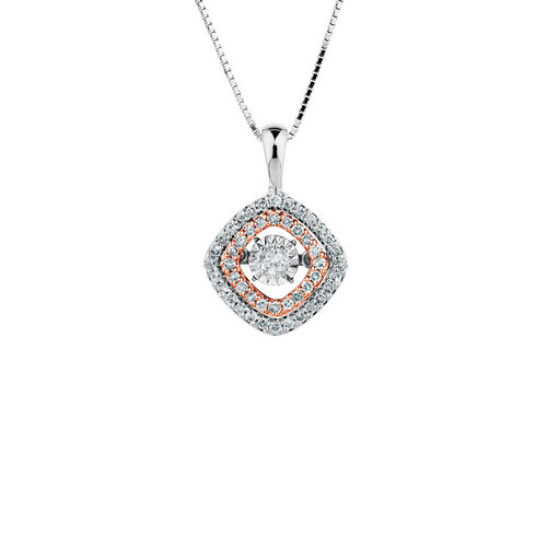 Everlight Pendant with 1/4 Carat TW of Diamonds in 10kt White & Rose Gold