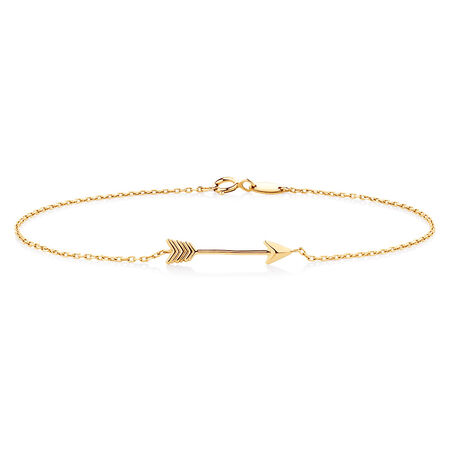 "19cm (7.5"") Arrow Bracelet in 10kt Yellow Gold"
