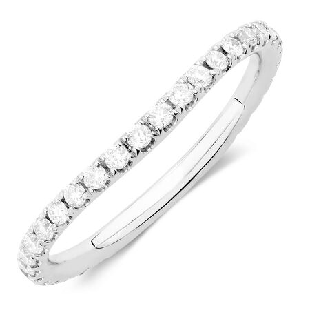 Sir Michael Hill Designer GrandArpeggio Wedding Band with 3/8 Carat TW of Diamonds in 14kt White Gold