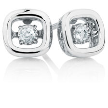 Everlight Stud Earrings with 1/10 Carat TW of Diamonds in Sterling Silver