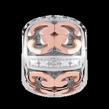 10kt Rose Gold & Sterling Silver Charm