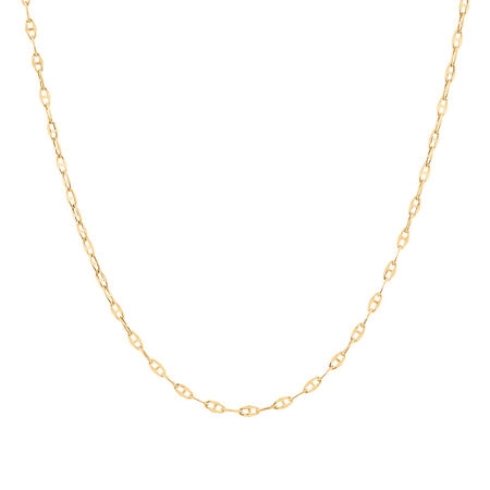 "40cm (16"") Fancy Chain in 10kt Yellow Gold"