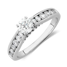 Engagement Ring with 1.11 Carat TW of Diamonds in 14kt White Gold