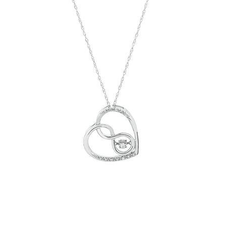 Infinitas Pendant in Diamonds in Sterling Silver