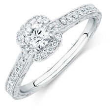 Sir Michael Hill Designer GrandAmoroso Engagement Ring with 3/4 Carat TW of Diamonds in 14kt White Gold