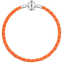 "Orange Leather 19cm (7.5"") Charm Bracelet"