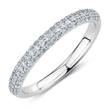 Evermore Colorless Wedding Band with 1/3 TW of Diamonds in 14kt White Gold