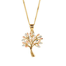 Gold chains gold necklaces online michael hill jewelers tree of life pendant in 10kt yellow white rose gold mozeypictures Images