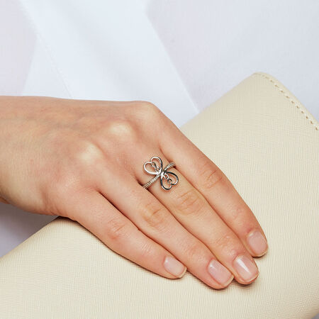 Infinitas Ring with 1/15 Carat TW of Diamonds in Sterling Silver