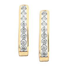 Huggie Earrings with 1/3 Carat TW of Diamonds in 10kt Yellow Gold