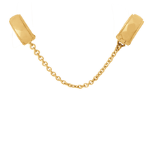 10kt Yellow Gold Patterned Safety Chain