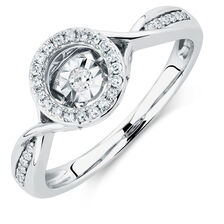 Everlight Ring with 0.15 Carat TW of Diamonds in Sterling Silver