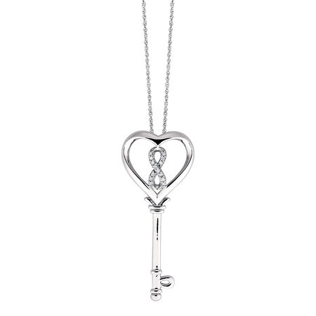 Inifinitas Pendant with 1/10 Carat TW of Diamonds in Sterling Silver