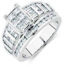 Engagement Ring with 2 Carat TW of Diamonds in 14kt White Gold
