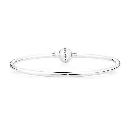 "Sterling Silver 21cm (8.5"") Charm Bangle"