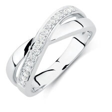 Ring with 1/6 Carat TW of Diamonds in 10kt White Gold