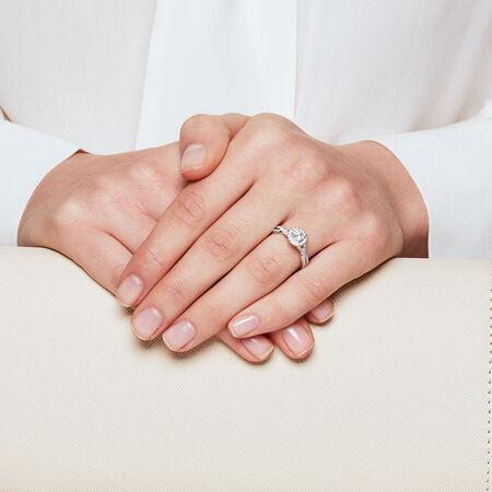 Sir Michael Hill Designer GrandAdagio Engagement Ring with 1 Carat TW of Diamonds in 14kt White Gold