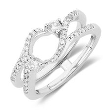 Enhancer Ring with 1/3 Carat TW of Diamonds in 14kt White Gold