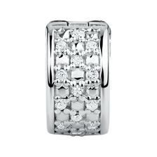 Diamond Set & Sterling Silver Stopper