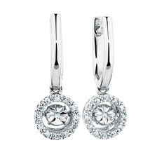 Everlight Drop Earrings with 1/10 Carat TW of Diamonds in Sterling Silver