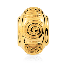 Online Exclusive - Swirl Charm in 10kt Yellow Gold
