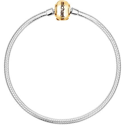 "10kt Yellow Gold & Sterling Silver 17cm (7"") Charm Bracelet"