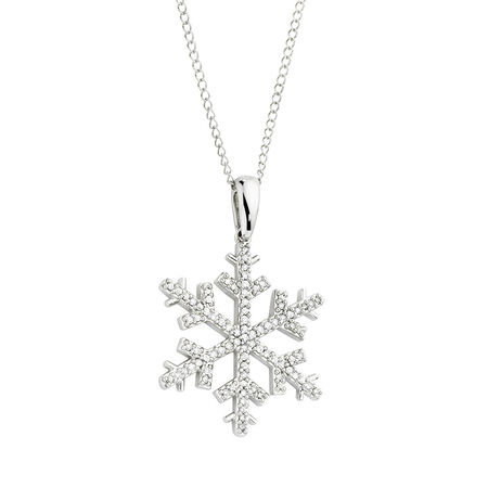 Pendant with 1/5 Carat TW of Diamonds in 10kt White Gold