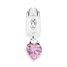 Sterling Silver October Heart Charm