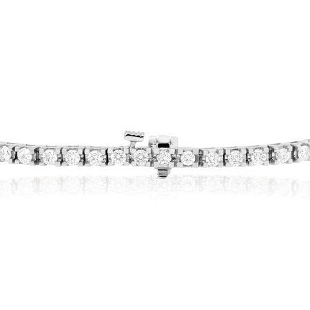 Tennis Bracelet with 3 Carat TW of Diamonds in 18kt White Gold