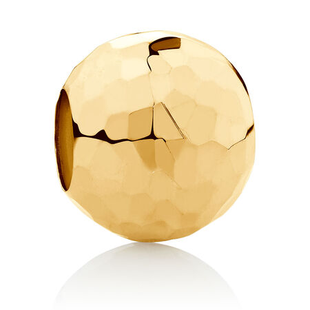 Faceted Charm in 10kt Yellow Gold