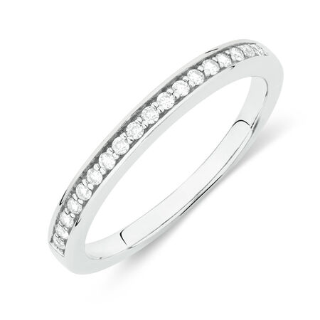 Online Exclusive - Wedding Band with 1/4 Carat TW of Diamonds in 18kt White Gold