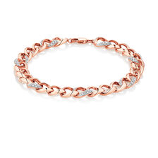 Bracelet with 1/4 Carat TW of Diamonds in 10kt Rose Gold
