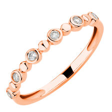 Bubble Ring with 1/8 Carat TW of Diamonds in 10kt Rose Gold