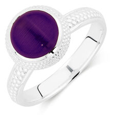 Online Exclusive - Violet Cats Eye Stack Ring