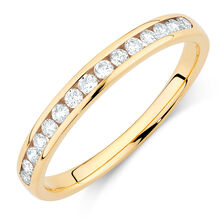 Wedding Band with 1/4 Carat TW of Diamonds in 14kt Yellow Gold