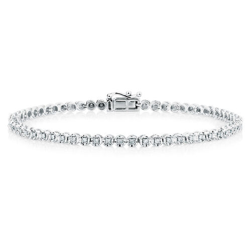 Tennis Bracelet with 1/2 Carat TW of Diamonds in 10kt White Gold