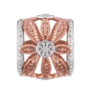Diamond Set, 10kt Rose Gold & Sterling Silver Charm